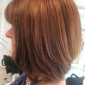 Autumnal brown hair with natural highlights