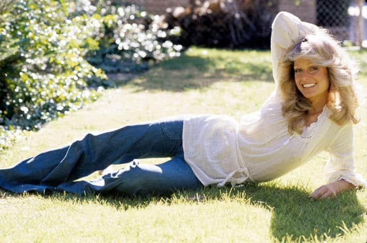 Farrah Fawcett with volumised blonde hair