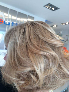 Increased hair volume after blow dry