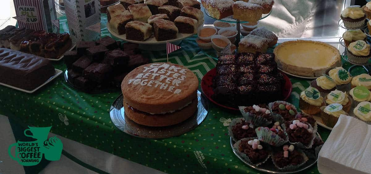 Macmillan Cake Table Close Up at Cutting Club