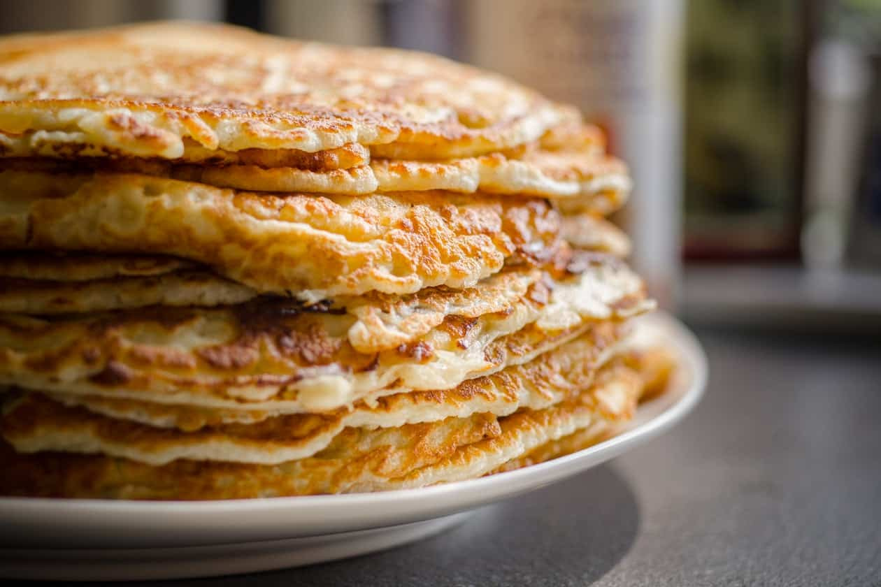 Pancake stack on plate
