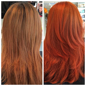 Colour refresh service photo before and after