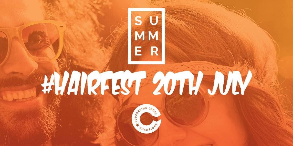 Hairfest banner - 20th July